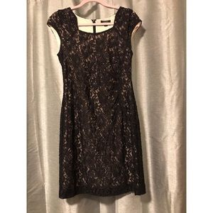 Black sparkly Tahari dress